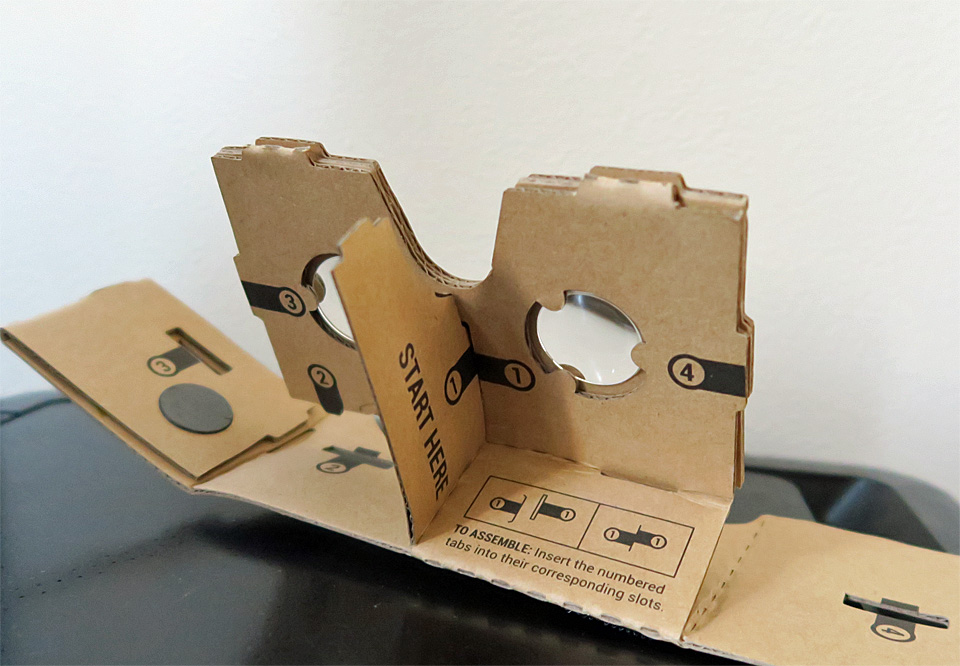 Google Cardboard 組み立て2